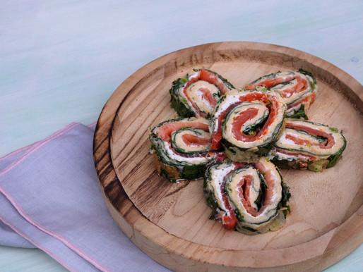 Rouleau d'épinards avec truite saumonée