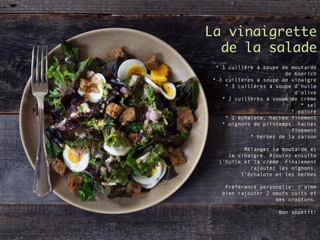 Vinaigrette pour une salade verte
