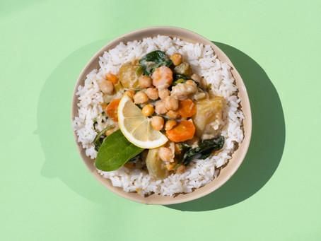 Curry thaï de pommes de terre et de pois chiches