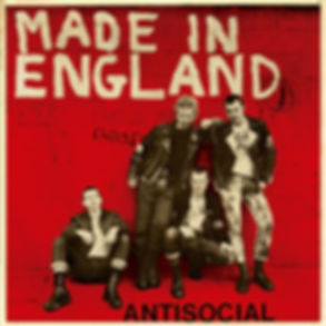 """ANTISOCIAL Made in England 7"""" reissue in red colour cover"""