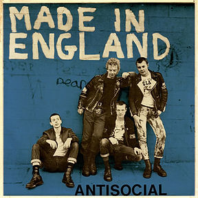ANTISOCIAL Made in England EP Blue cover edition limited to 25 copies
