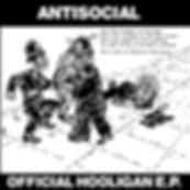 Original artwork for ANTISOCIAL Official Hooligan used as a limited edtiion to 25 copies reissue on Evil Records