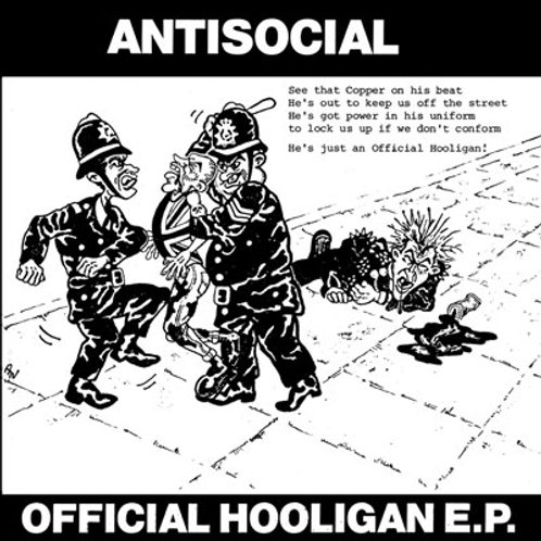 "ANTISOCIAL Official Hooligan EP ""Original"" Cover (Lim.25 copi"