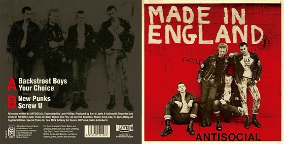 ANTISOCIAL Made in England EP Red cover artwork
