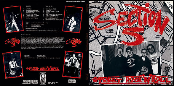 SECTION 5 Street Rock n Roll LP reissue on Evil Records
