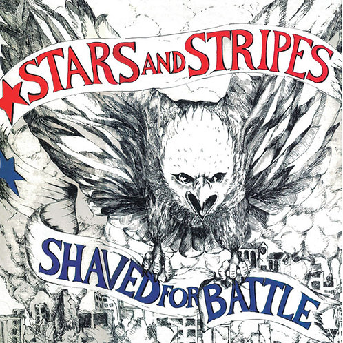 STARS AND STRIPES Shaved for Battle LP (Red vinyl) Limited to 125 copies
