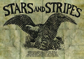 This poster was included in the STARS AND STRIPES Shaved for Battle reissue on EVIL RECORDS