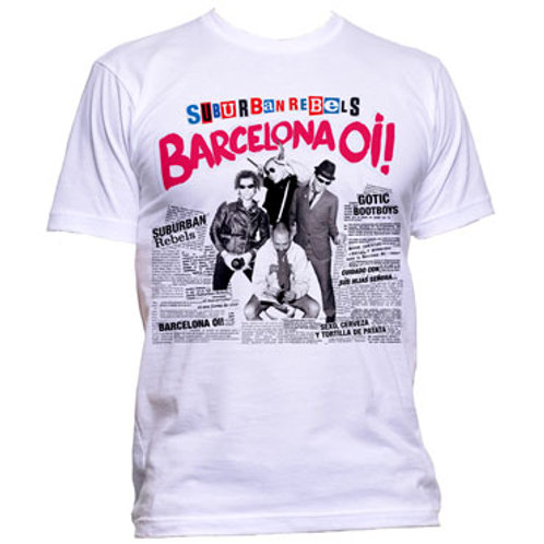 SUBURBAN REBELS Barcelona Oi! T-shirt