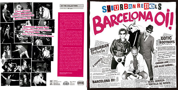 Suburban Rebels Barcelona Oi! limited edition vinyl release on Evil Records