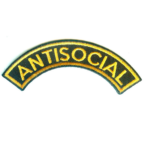 ANTISOCIAL Logo Shoulder Patch Yellow