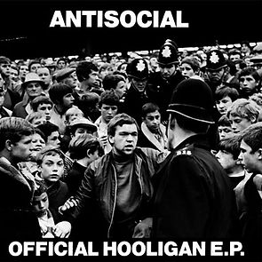 "Antisocial Official Hooligan ""Crowd and Police"" cover"
