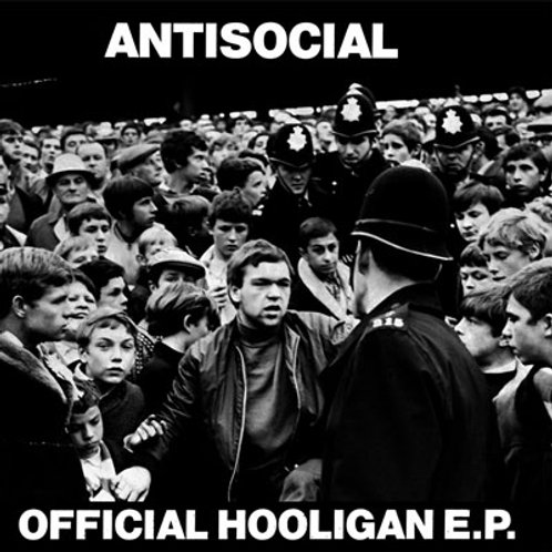 """ANTISOCIAL Official Hooligan EP """"Crowd & Police"""" Cover (Lim.25 copie"""