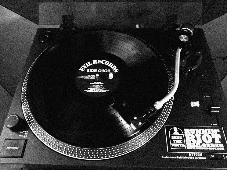 Oi! and Punk music should always be played on vinyl, Evil Records