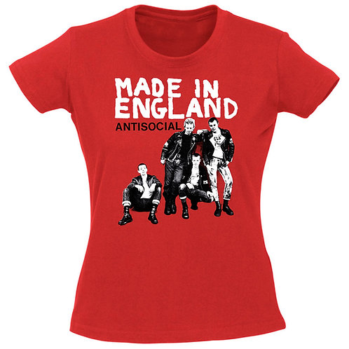 ANTISOCIAL Made in England GIRL T-shirt