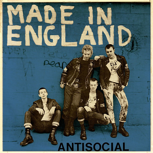 ANTISOCIAL Made in England EP (Blue cover) Limited edition 25 copies