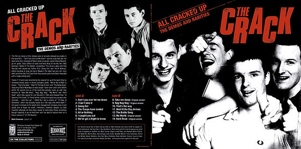THE CRACK All Cracked Up LP Limited to 500 copies on vinyl