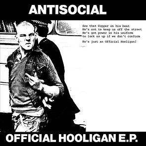 "Antisocial Official Hooligan ""Arrested Skinhead"" cover"