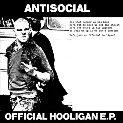 """ANTISOCIAL Official Hooligan EP """"Arrested Skinhead"""" Cover (Lim.25 copies)"""