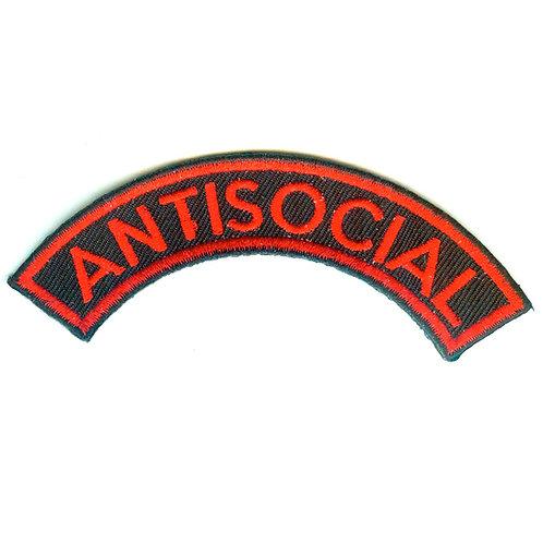 ANTISOCIAL Logo Shoulder Patch Red