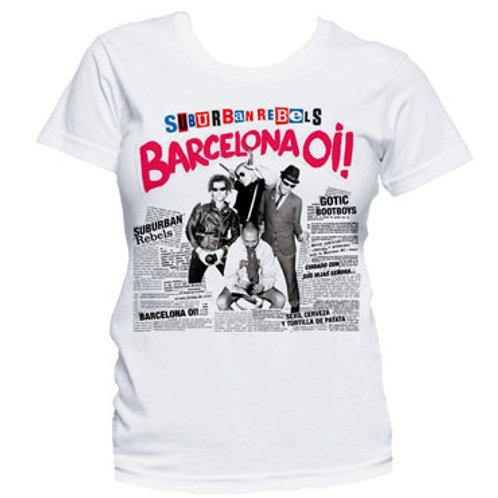 SUBURBAN REBELS Barcelona Oi! GIRL T-shirt