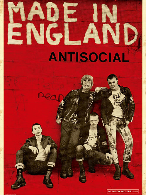 ANTISOCIAL Made in England A2 Size Poster