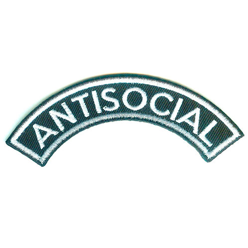 ANTISOCIAL Logo Shoulder Patch White