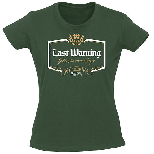LAST WARNING Voll Damm Boys GIRL T-shirt