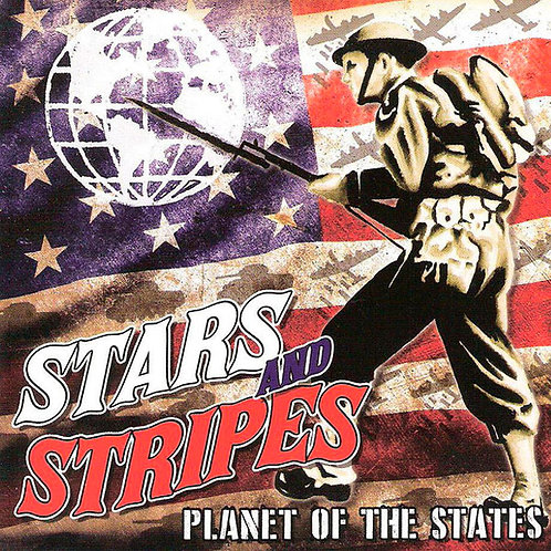 STARS AND STRIPES Planet of the States LP (Red and Black swirl vinyl))