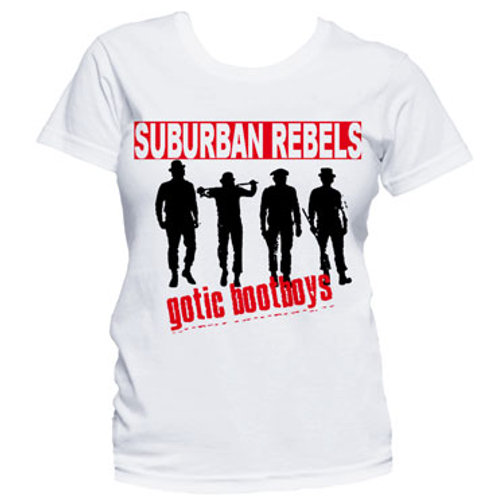 SUBURBAN REBELS Gotic Bootboys GIRL T-shirt