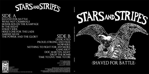 Only 25 copies have been made of STARS AND STRIPES Shaved for Battle in different cover and red vinyl