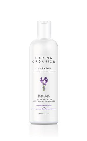 Shampoing et Nettoyant Corporel | Carina Organics | Lavande
