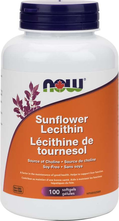 Lécithine de Tournesol | Now | 100 gélules