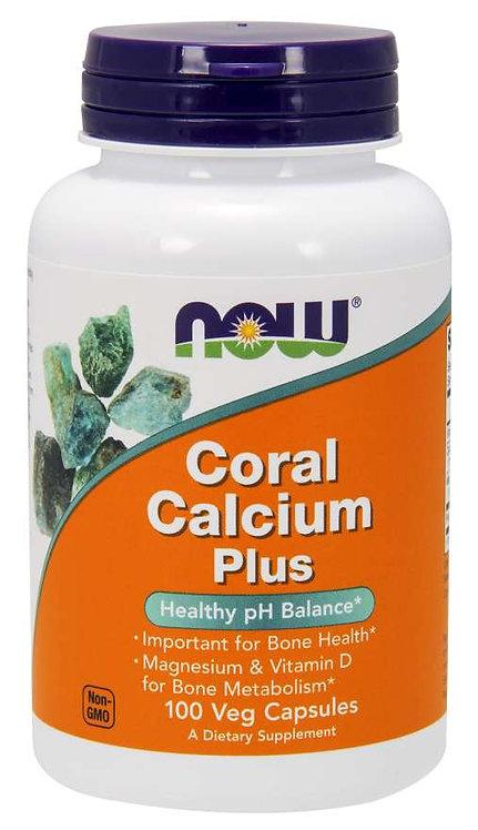 Calcium de Corail Plus | Now | 100 capsules végétales