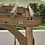 Thumbnail: Ensemble de balançoire en bois avec pergola