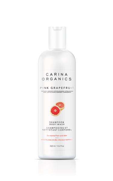 Shampoing et Nettoyant Corporel | Carina Organics | Pamplemousse