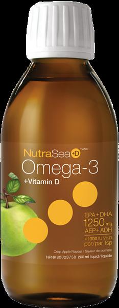 Omega-3 - Vitamine D | NutraSea | 200 ml