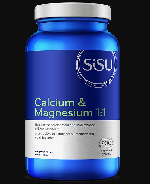 Calcium et Magnésium 1:1 | Sisu | 100 - 200 Capsules
