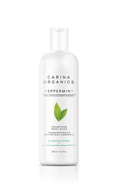 Shampoing et Nettoyant Corporel | Carina Organics | Menthe