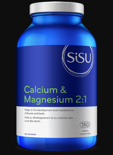 Calcium et Magnésium 2:1   Sisu   180 Capsules