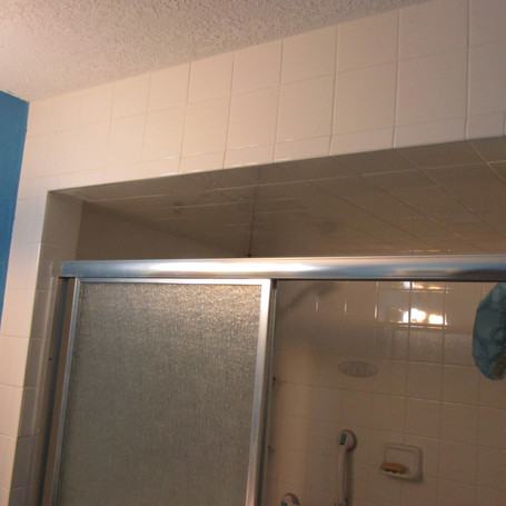 Before outside shower wall.JPG
