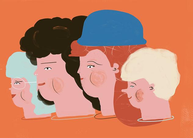 illustriert Familie