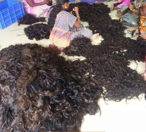 Raw Indian human hair factory from India