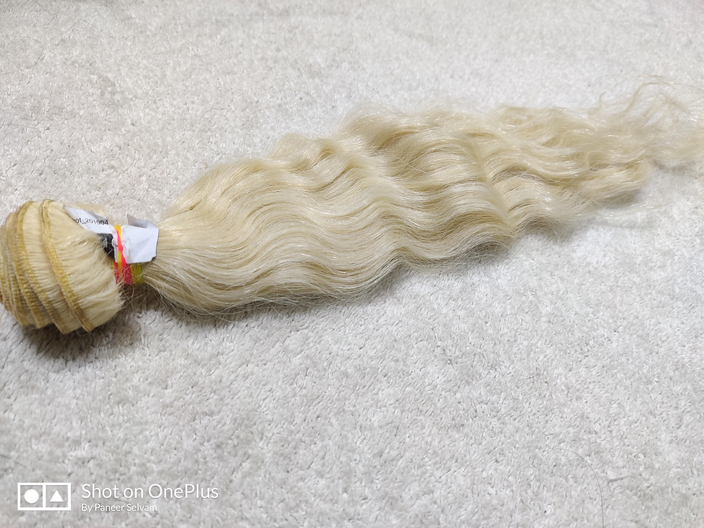 Natural Human Hair Blonde Extension