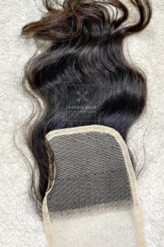 Transparent lace Wavy closure