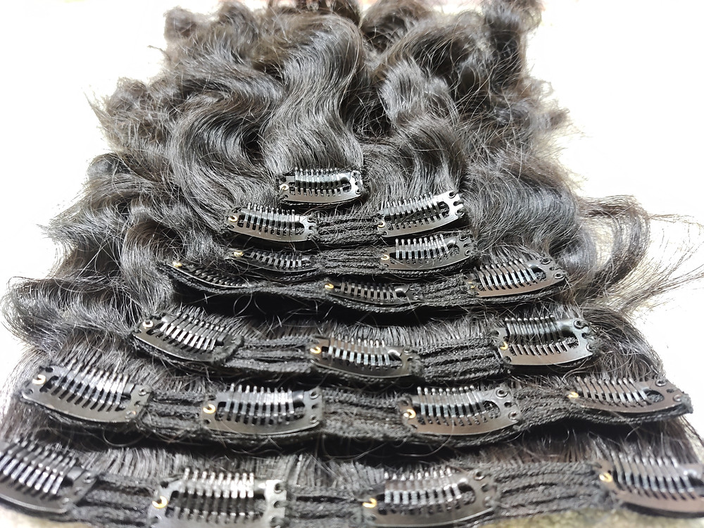 Clip In Hair Extensions Full Head Natural As Human Real Long Thick