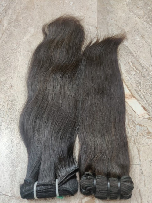 Natural BONE Straight Hair Extensions