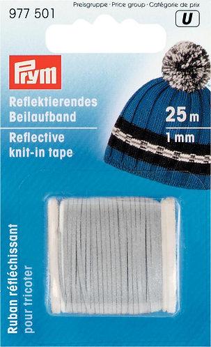 Светоотражающая нить для вязания, ширина 1мм, Prym