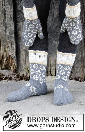Варежки и носки Winter Daisies