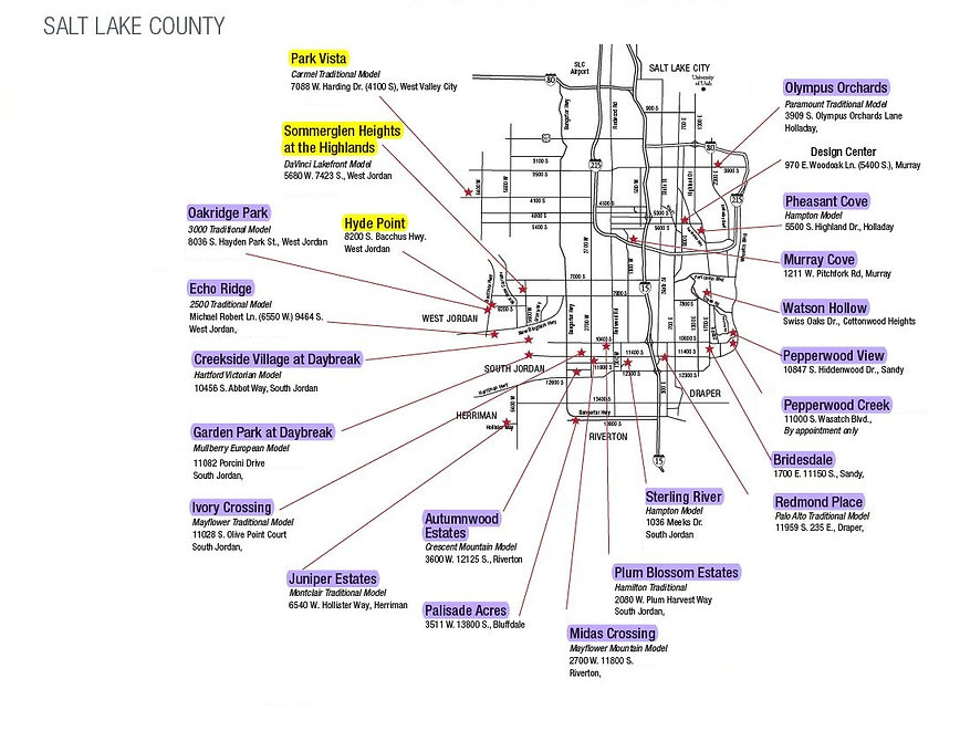 map of Salt Lake Valley