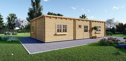 casa de madera modelo FILL 60 m2 modificado
